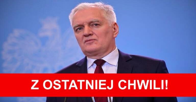 Jarosław Gowin podał się do dymisji