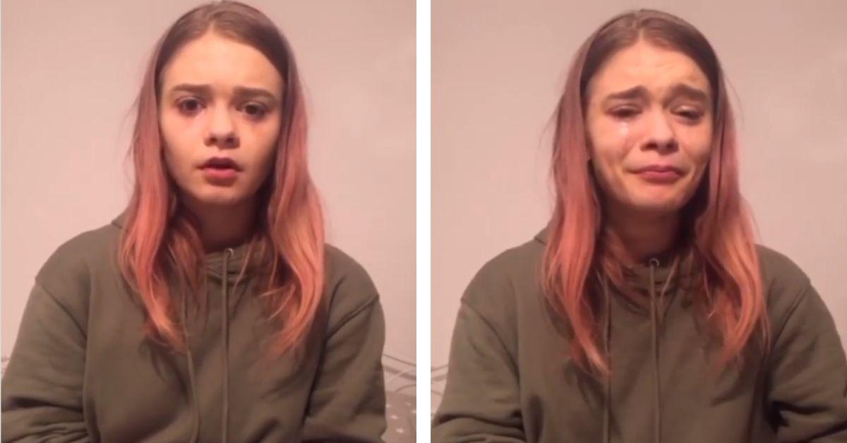 Julia Wróblewska zalana łzami