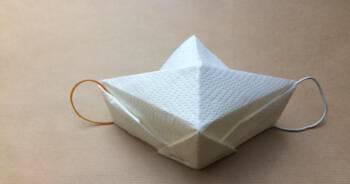 Maseczka z papierowego ręcznika