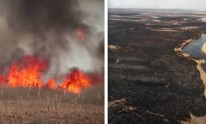 Pali się Biebrzański Park Narodowy