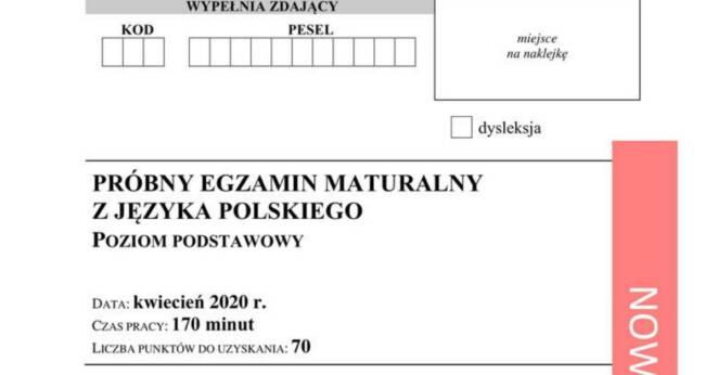 Próbna matura 2020 online