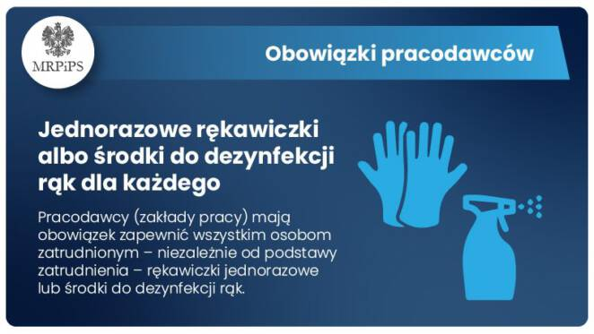 obowiązek noszenia rękawiczek jednorazowych 3