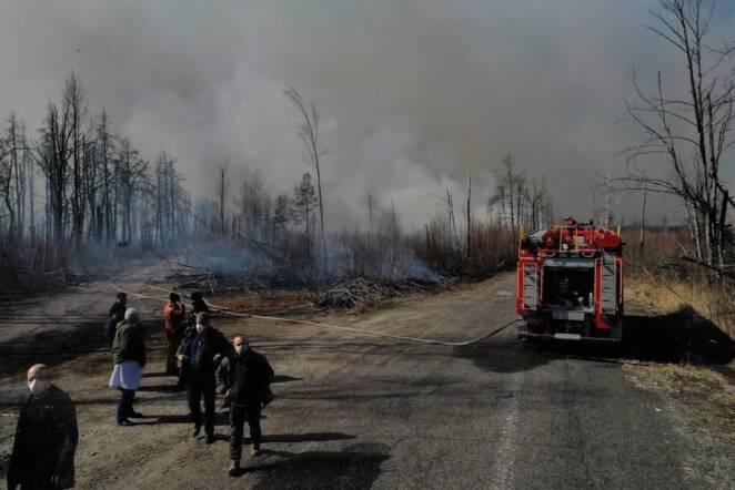pożar w Czarnobylu 2