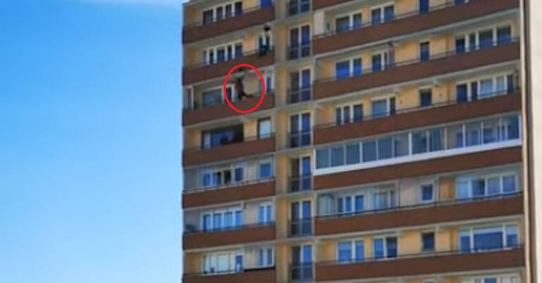 skok z 20 piętra