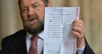 wyciek kart do głosowania