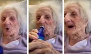 103-latka pokonała koronawirusa. Uczciła to butelką ulubionego trunku