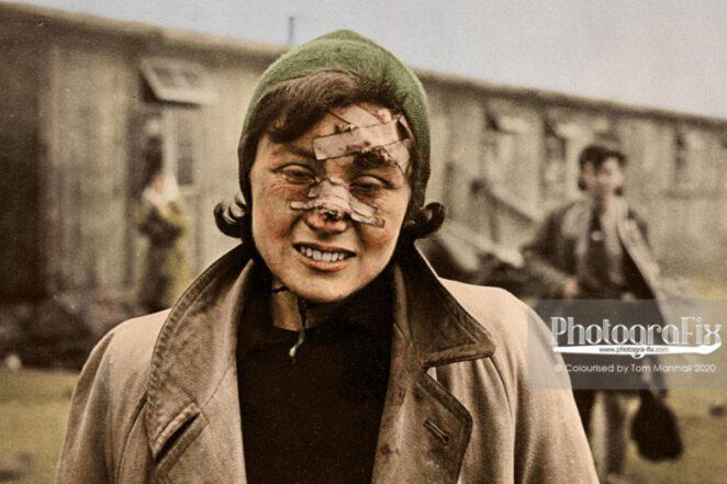 fotograf poddał koloryzacji zdjęcia z Auschwitz
