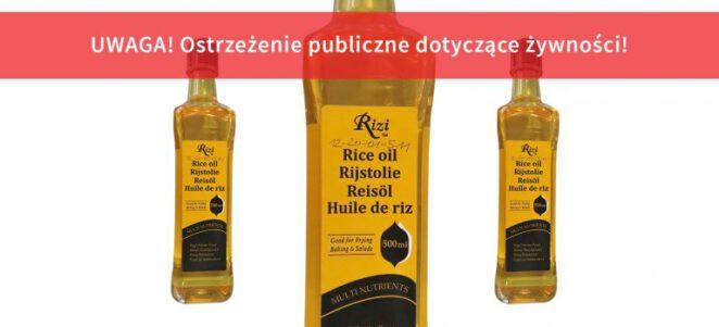 GIS wycofuje ze sprzedaży olej