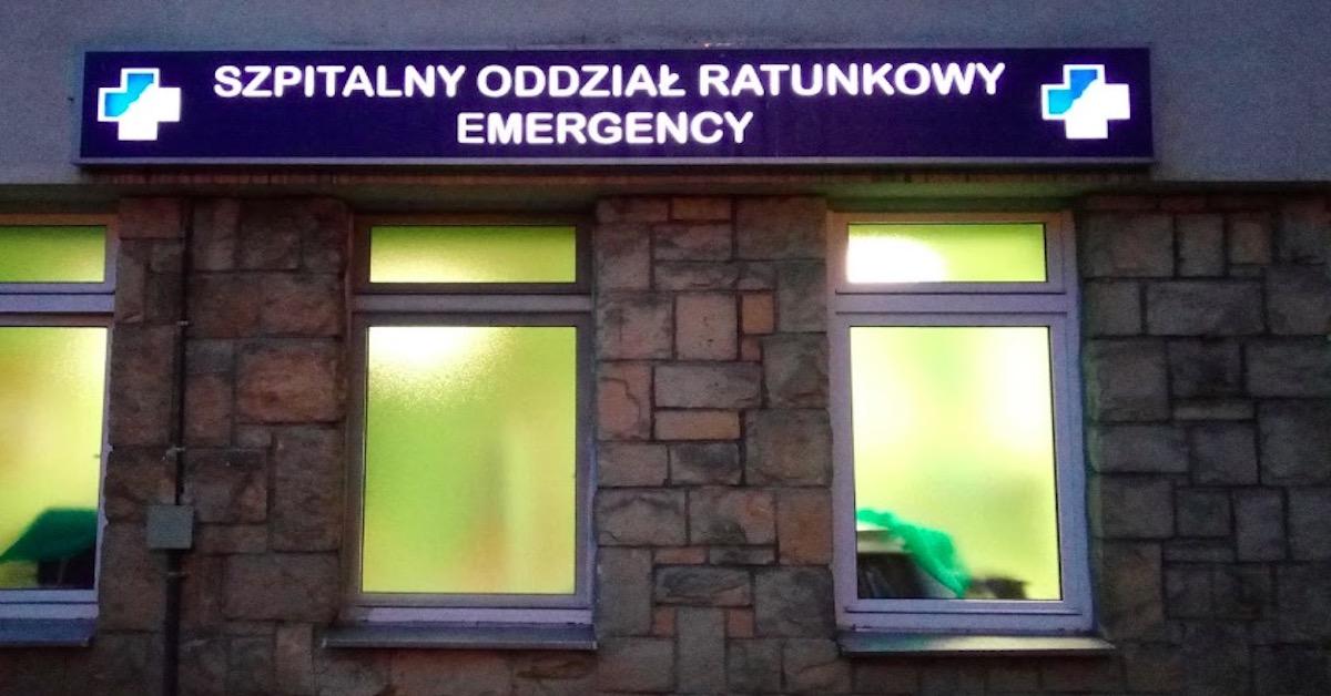Lekarz wypadł z okna szpitala