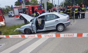 Groźny wypadek w Łodzi. Troje dzieci przewiezionych natychmiast do szpitala