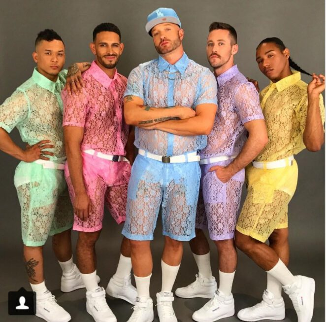 koronkowe szorty dla mężczyzn