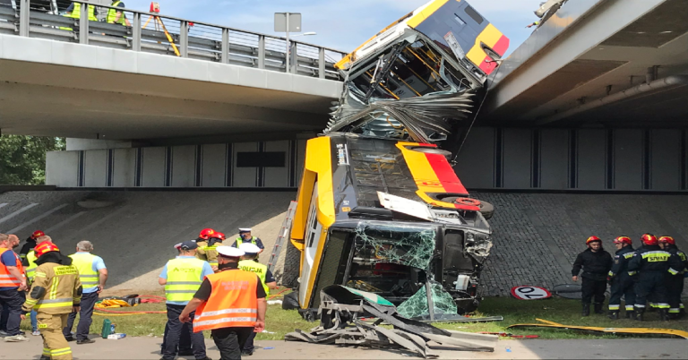 Przyczyny wypadku autobusu w Warszawie