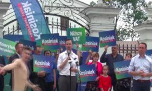 Golas na wiecu Władysława Kosiniaka-Kamysza