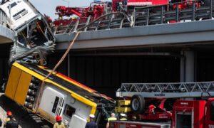 Kierowca autobusu, który spadł z mostu