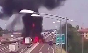 Eksplozja cysterny na autostradzie w Chinach. 189 osób w szpitalu, są zabici
