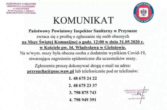 koronawirus na komunii