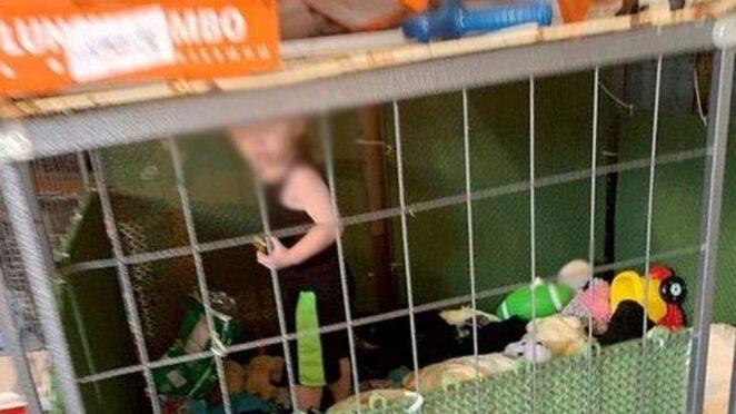 matka więziła dziecko w klatce 2