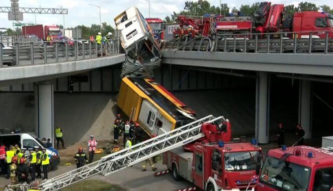 Kierowca autobusu który spadł z mostu