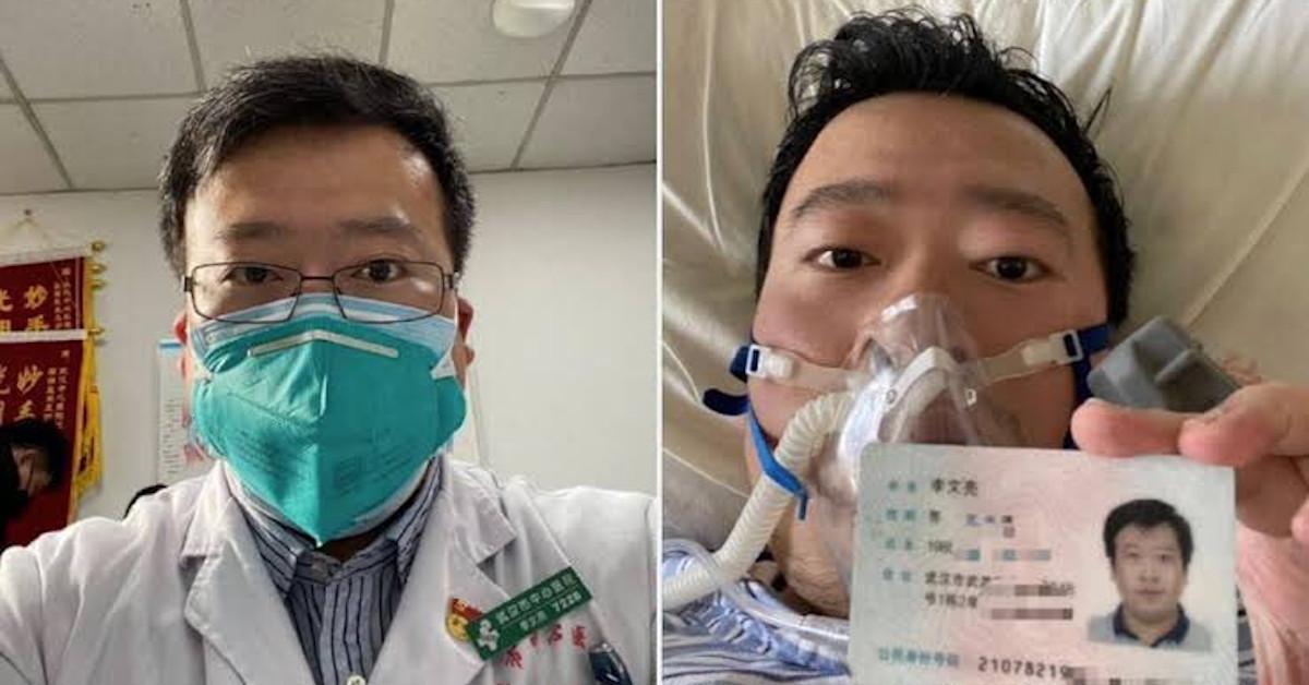 pogrobowiec bohaterskiego lekarza z Wuhan
