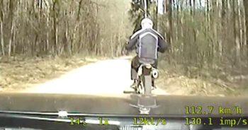 policjanci rozjechali motocyklistę