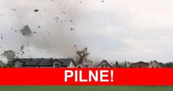 trąba powietrzna na Śląsku