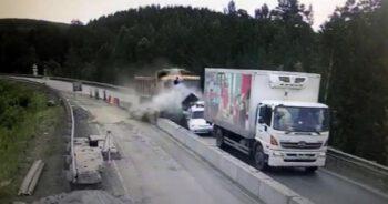 Wypadek ciężarówki w Rosji