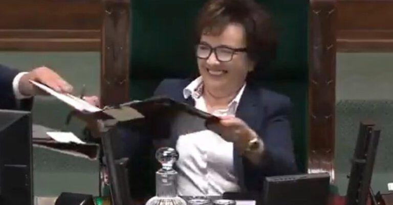 atak śmiechu marszałek Sejmu