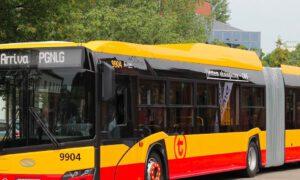 Zderzenie autobusu w Warszawie