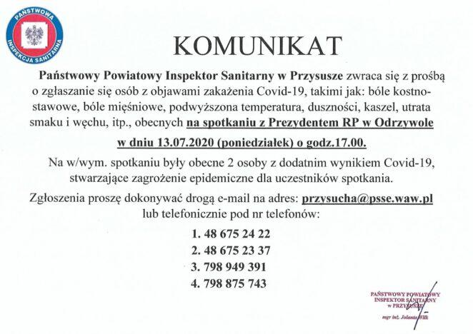 Koronawirus w Polsce 24 lipca