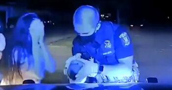 policjant uratował niemowlę