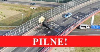 Pożar samochodu w Warszawie