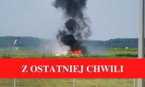 Wypadek awionetki w Bydgoszczy! Samolot rozbił się na pasie startowym