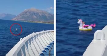 3-latka znaleziona na środku morza