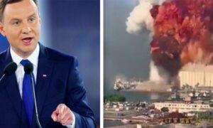 Andrzej Duda o wybuchu w Bejrucie. Słowa prezydenta są wyjątkowo poruszające