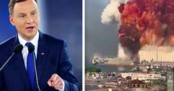 Andrzej Duda o wybuchu w Bejrucie