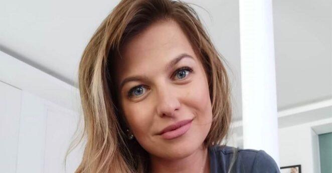 Anna Lewandowska pokazuje plecy