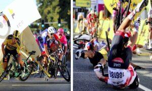 Holenderski kolarz jest w śpiączce. Masakra na finiszu Tour de Pologne