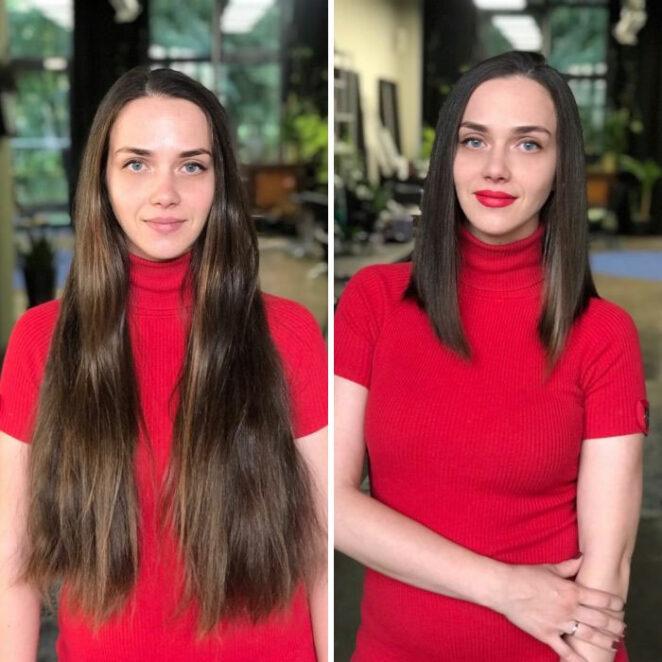 Jak zmienia się twarz po skróceniu włosów