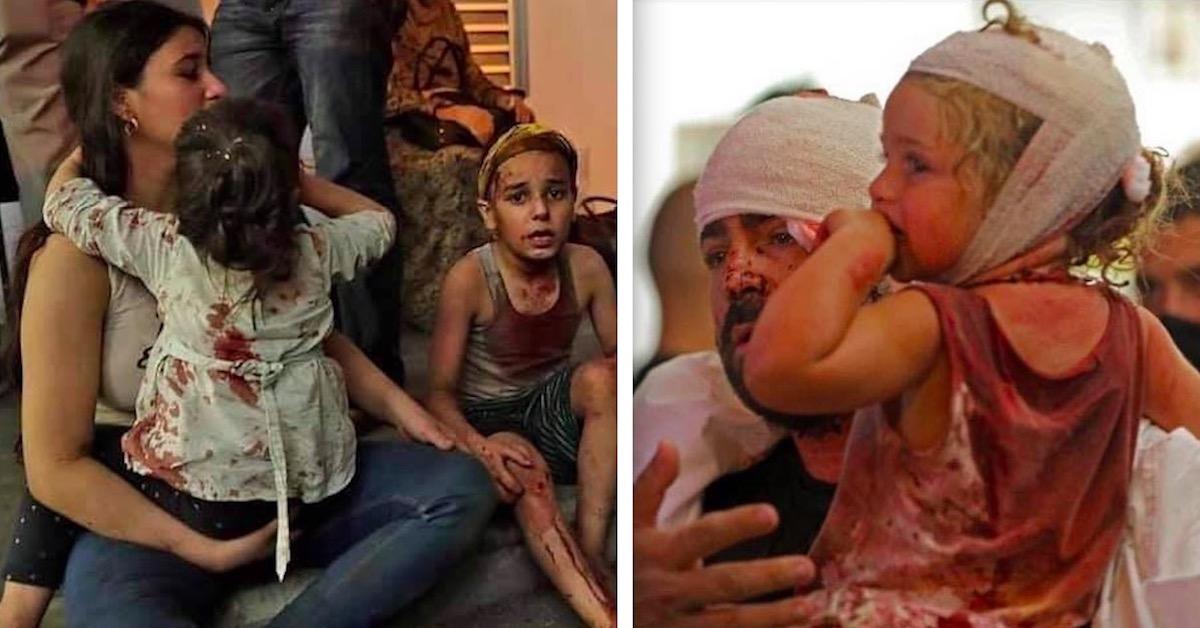 Przerażające zdjęcia z Bejrutu