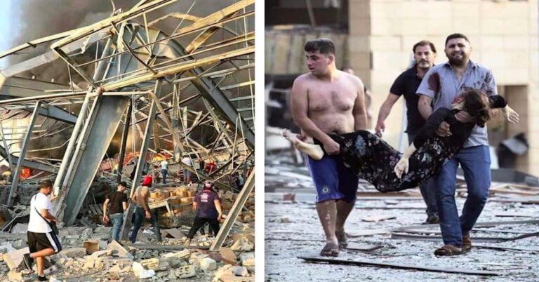 Zniszczenia po eksplozji w Bejrucie