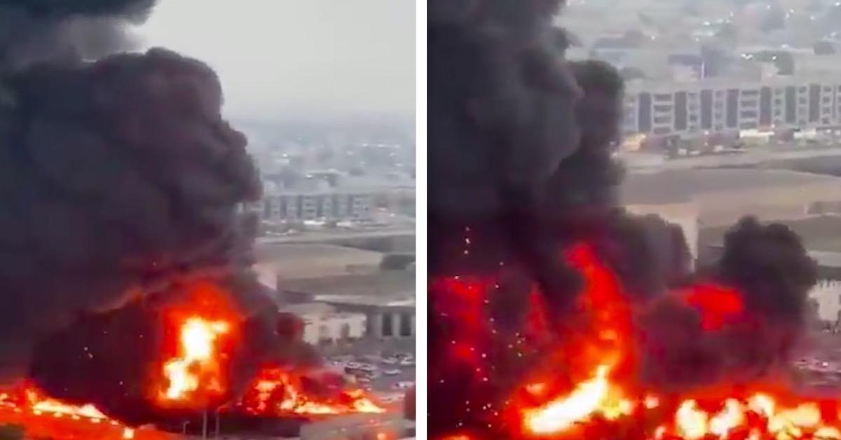 pożar w Adżmanie