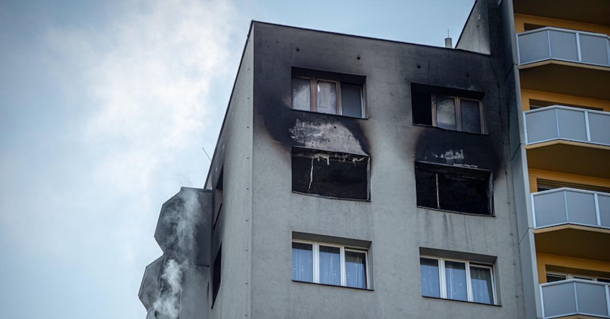 pożar w Bohuminie