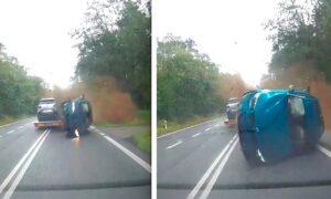 23-latek staranował samochody. Do sieci trafiło wideo z przerażającego wypadku