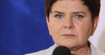 Beata Szydło w żałobie