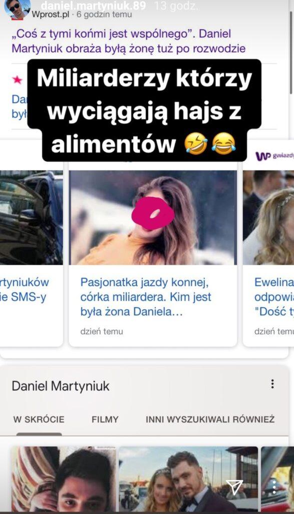 Daniel Martyniuk poniża byłą żonę
