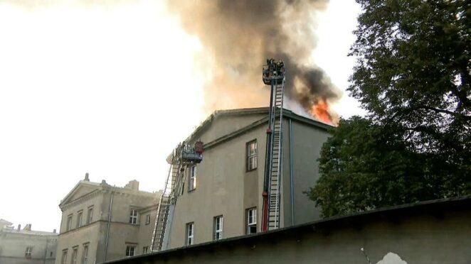 Pożar szkoły w Lublińcu