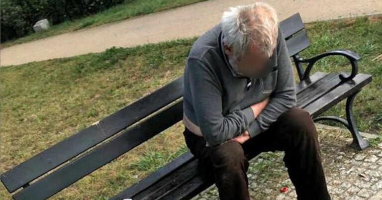 bezdomny zmarł pod szpitalem 6