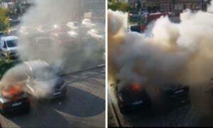 W Tczewie doszło do podpalenia dwóch samochodów. Sprawcy mieli 4 i 9 lat