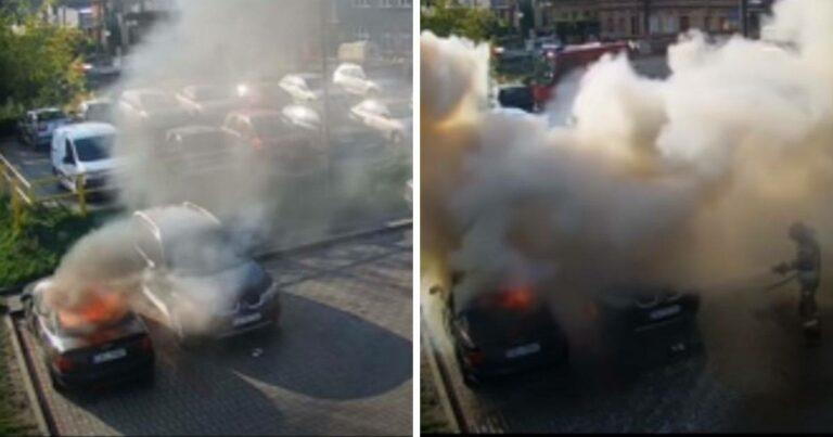 Dzieci podpaliły dwa samochody