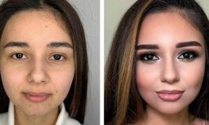 10 naturalnych dziewczyn, które po raz pierwszy odważyły się na mocny makijaż